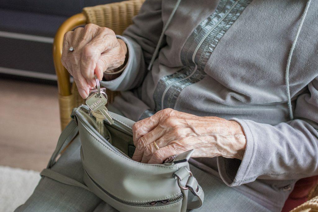 Senior citizen, alone, old, keys